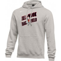 Tillamook Track 15: Adult-Size - Nike Team Club Fleece Training Hoodie (Unisex) - Gray
